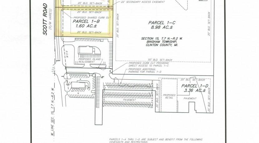 Scott Rd Parcel 1-A and 1-B Survey